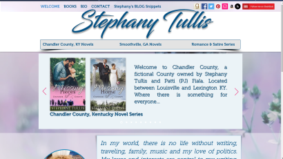 Website Design for bestselling author Stephany Tullis